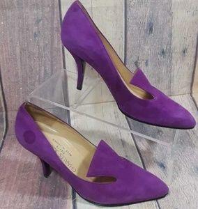 Charles Jourdan Paris Suede Leather Heels Size 6 M